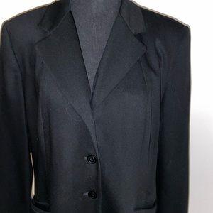 Black suit coat by Talbots